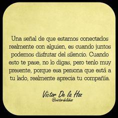 〽️ Apreciemos nuestra compañía.  Victor De la Hoz...