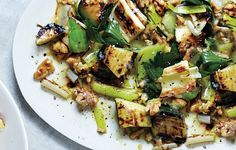 Grilled Zucchini and Leeks with Walnuts and Herbs We like the texture of the leeks and zucchini when left al dente—if grilled too long, they... #BonAppetit