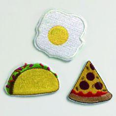 Egg, Taco, Pizza Cloth Patch Set