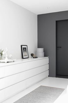 Black, grey & white