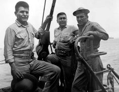 Veterans of the Battle of Peleliu, these Marines were Navajo and Comanche code talkers.