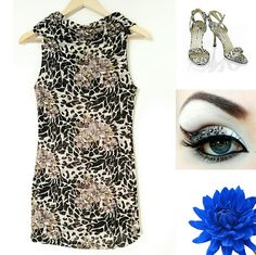 Floral Leopard Bodycon Mini Dress/Tunic This dress combines two fabulous prints in one amazing dress! It's a curve hugging design in a super stretchy knit material. Wear it as a tunic w/leggings or skinny jeans. If you dare, heat things up on the dance floor as a mini dress! It's in excellent shape - no snags or tears, vibrant colors. Has a cowl foldover neckline. Super sexy & unique sweater dress!   I think I bought it from Arden B but it doesn't have tags. Only worn 3 times. Fits a Small…