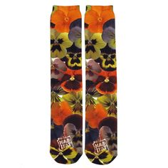 Absolute Socks - Pansy Sublimation Tube Socks, $8.99 (http://www.absolutesocks.com/michelles-picks/pansy-sublimation-tube-socks/)