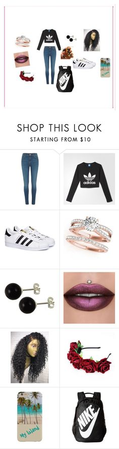"""Turnt up  at the club"" by dnnavarro on Polyvore featuring River Island, adidas and NIKE"