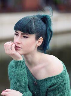 Dark Green Hair, Green Hair, mermaid hair, emerald hair, Directions Alpine Green, Colorful Hair, Crazy Hair Colors