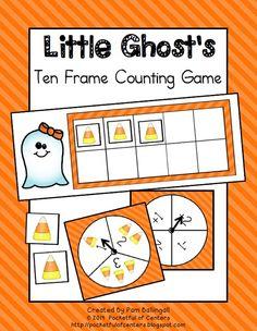 Cute Halloween Ten Frames Game