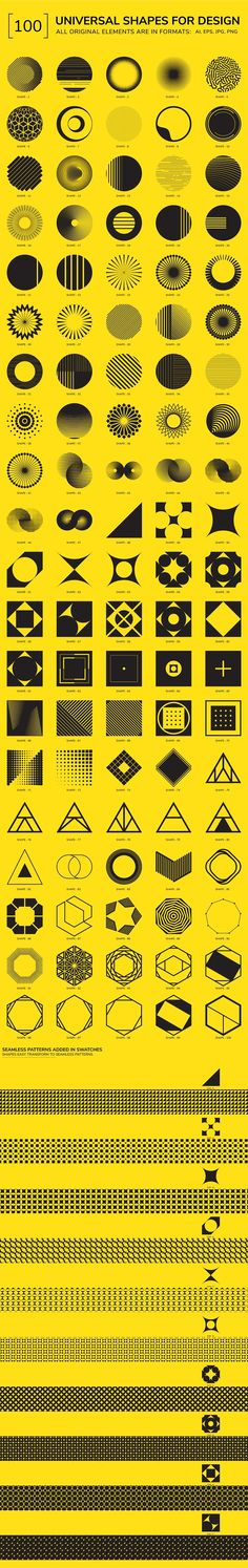 100 Geometric Shapes. Part 4 by Vanzyst on @creativemarket