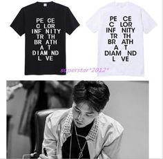 KPOP Bigbang Fashion Design G-Dragon T-Shirt GD Art Shop Cotton Unisex Tee #Wangxinchen