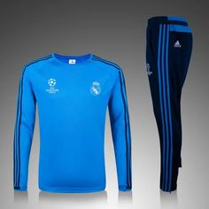Real Madrid 2015/16 Champion League Light Blue Men Tracksuit Slim Fit Item…