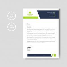 Modern green letterheademplate Premium V... | Premium Vector #Freepik #vector #business #certificate #abstract #paper