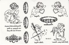 """Tattoo size 6.30""""x6.30"""" Long last temporary tattoo non-toxic and waterproof female models black and white small angel totem realistic temporary tattoo sticker. Safe and non-toxic design ideal for body art. Professional grade made to last 3 to 5 days and easily transferred by water. Perfect for vacations, girls night, pool parties, bachelorette parties, or any other event you want to look glamorous."""