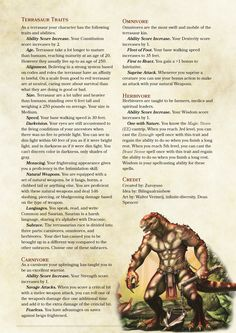 DnD Homebrew — Terrasaur Race Lottery Prize by Zuroyuso for. Dungeons And Dragons Races, Dungeons And Dragons Classes, Dungeons And Dragons Homebrew, Fantasy Creatures, Mythical Creatures, 5e Races, Dnd Classes, Dnd 5e Homebrew, Dnd Monsters