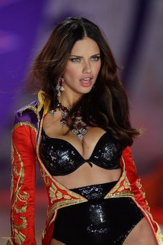 Adriana Lima during the Victoria's Secret Fashion Show 2012 Circus Section!!