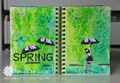 Some fiddling on the kitchen table: art journal