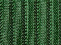 Raised Stockinette Ribs II - Knitting Pattern Stitch (knit and purl) - Written instructions and chart.