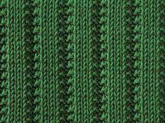 Raised Stockinette Ribs II - Stitch Sample