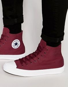 dc418fd83ae Converse Chuck Taylor All Star II Hi-Top Plimsolls In Red 150144C Maroon  Converse