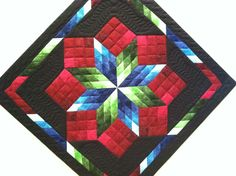 Amish wall hanging quilt