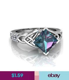 Rings Women Princess Cut 2.8Ct Mystic Rainbow Topaz Engagement Ring Size 6,7,8,9,10 #ebay #Fashion