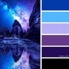palette blue Ideas For Wedding Design Interior Color Palettes Purple Color Schemes, Color Schemes Colour Palettes, Blue Colour Palette, Blue Color Combinations, Color Palette For Home, Nature Color Palette, Sky Design, Color Balance, Color Swatches