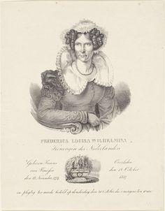 Anonymous | Portret van Wilhelmina van Pruisen, Anonymous, 1837 - 1899 | Portret van Wilhelmina. Midden onder een voostelling van haar graf. In de ondermarge haar naam, titel, haar geboortdatum, sterfdatum en de datum waarop ze begraven werd.