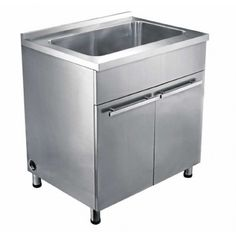 Dawn SSC3336 Single Bowl Stainless Steel Sink Base Cabinet 33 Inch