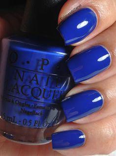 OPI San Francisco collection - Keeping Suzi At Bay: Bright royal blue. Two coats of awesome.