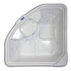 Hydreddi Revolution�66-in L x 66-in W x 28-in H Revolution 2-Person White Corner Drop-In Whirlpool Tub