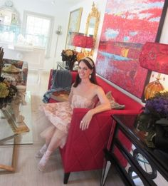 Home furnishings from Blue Leaf Houston in a dress from Em & Lee Boutique