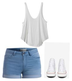 Untitled #4 by erinthomas1207 on Polyvore featuring polyvore, fashion, style, RVCA, Pieces and Converse