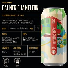 The Beer Biog - Calmer Chameleon As part of our Core Range this refreshingly light APA is always available online to quench your thirst. #americanpaleale #hops #light #beer #craftnotcrap #brewyork #paleale