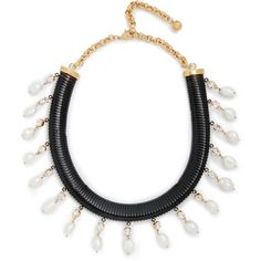 Shourouk Shourouk Tubogas Necklace - Black/Gold (6,295 INR) ❤ liked on Polyvore featuring jewelry, necklaces, adjustable necklace, shourouk, shourouk jewelry, shourouk necklace and swarovski crystal jewelry