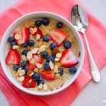 Topped with fresh, seasonal blueberries and strawberries, this hearty, whole grain breakfast bowl is bursting with springflavor. This clean eating breakfast quinoa is delicious and nutritious! Cook the quinoa up to 5 days in advance, and refrigerate until needed, if desired. Eating clean can be a