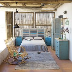 Recycled Wood Headboard, Seaside style from Maisons du monde