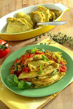Crespelle estive con ricotta, zucchine e pomodoro fresco - Scuola di cucina - Donna Moderna