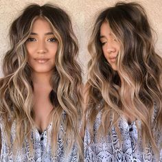 Ombre Blond, Brown Blonde Hair, Brunette Hair, Beach Hair Color, Hair Color And Cut, Brown Hair Inspiration, Dark Hair With Highlights, Face Frame Highlights, Aesthetic Hair
