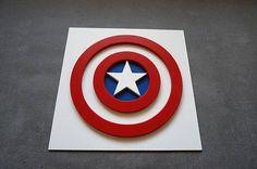 Superhéroe Capitán América Este colgante superhéroe fresco de la pared es ideal para la decoración de la habitación de los niños. Elegir el superhéroe favorito de su hijo. Si usted compra para cumpleaños de niño u otra ocasión por favor enviarme fecha cuando necesita elementos.