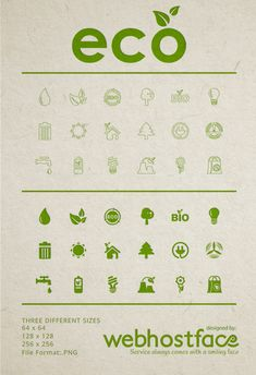 Free Eco Icons to a Sustainable Design Future on Behance