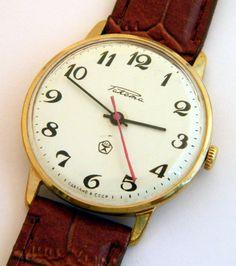 USSR Russian gilt watch Raketa by madeinua on Etsy, $49.99