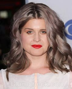 Kelly Osbourne Hair Color Gray, love the ash tones, not really grey!
