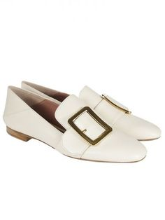 Loafers for Women On Sale, Nude, Leather, 2017, 3 3.5 Bally