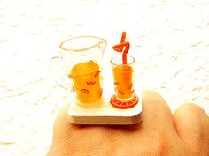 Kawaii Cute Japanese Ring Orange Juice by SouZouCreations on Etsy, $10.00