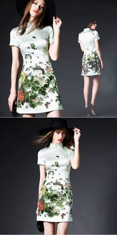 Prom Gowns Sexxy Flowery Short Sleeve Curvy Outfits Summer Evening Young… One Sleeve Dress, Short Sleeve Dresses, Gray Dress, White Dress, Navy Wedding Shoes, Beach Bridesmaid Dresses, Trendy Sandals, Wedding Mint Green, Lace Wedding Invitations