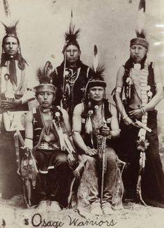 Osage men (Bacon Rind sitting on far left) - no date