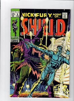 A cover gallery for the comic book Nick Fury, Agent of SHIELD Sci Fi Comics, Old Comics, Horror Comics, Vintage Comics, Silver Age Comics, Nick Fury, Comic Book Covers, Comic Books, Comic Art