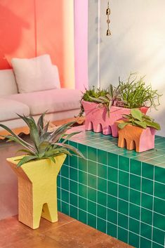 Hairpin Base Clay Box Planter | Urban Outfitters