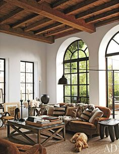 Our Vintage Home Love\  So cozy!.. wooden beams ♥
