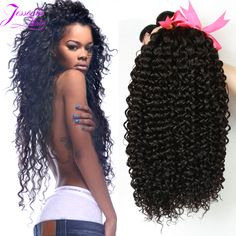 8A brazilian virgin hair kinky curly 3 bundles virgin brazilian curly hair cheap brazilian hair weave bundles natural color 1B ** More info could be found at the image url.