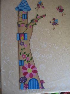 Misuratore d'altezza per bambini, realizzato in legno, dipinto a mano