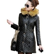 2017 New Spring Leather Jacket Women Brand Hooded PU Leather Coat Women Fur collar Faux Leather Jacket Female Red Black M-3XL //FREE Shipping Worldwide //